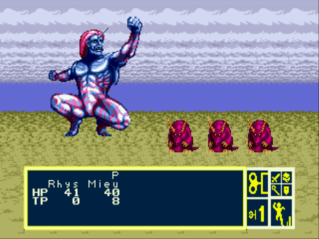 Phantasy Star III - Generations of Doom - Land of the Giants :O - User Screenshot