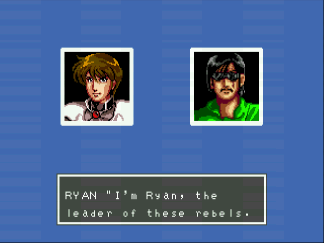 Phantasy Star III - Generations of Doom - Ryan - has sunglasses and a moustache. Rebel! - User Screenshot