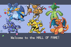 Pokemon Fire Red Omega - Ending  - First Hall of Fame :D - User Screenshot