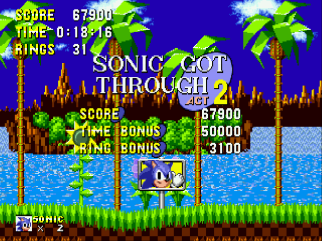Sonic 1 Megamix (v3.0) - Level Green Hill Zone - Look at my time! (actually my bro did this!) - User Screenshot