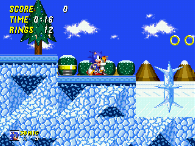 Sonic 2 - The Lost Worlds - Level Winter Zone -  - User Screenshot