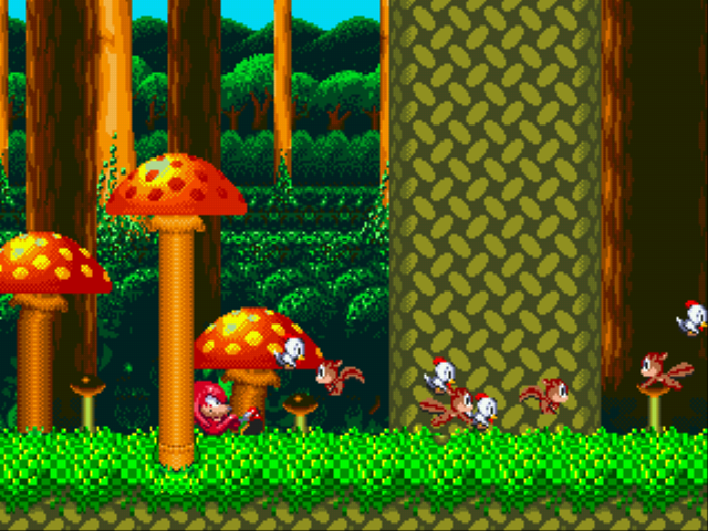 Sonic and Knuckles - Cut-Scene  - Even heroes need some time off. - User Screenshot