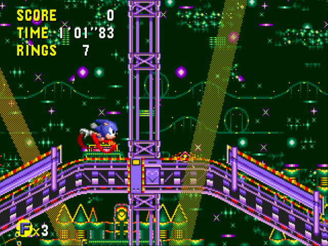 Sonic CD - Level Stardust Speedway Act 1 - Good Future - User Screenshot