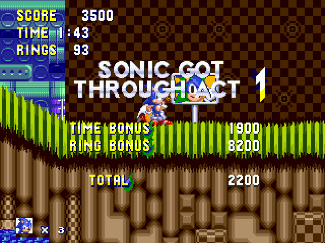 Sonic Zeta Overdrive - End of first level screenshot - User Screenshot