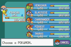 Pokemon Ash Gray (beta 3.61) - Character Profile PKMN Team - At the end of this beta - User Screenshot