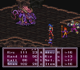 Breath of Fire II - Battle  - Boss: Kuwadora - User Screenshot