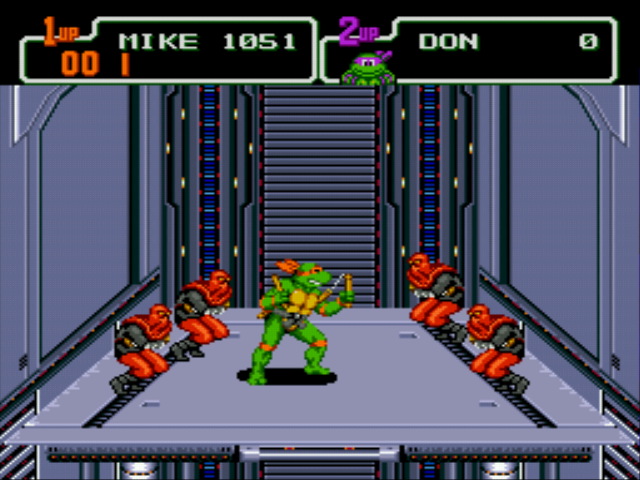 Teenage Mutant Ninja Turtles - The Hyperstone Heist - Level 5 - Mikey farted in the elevator, didn