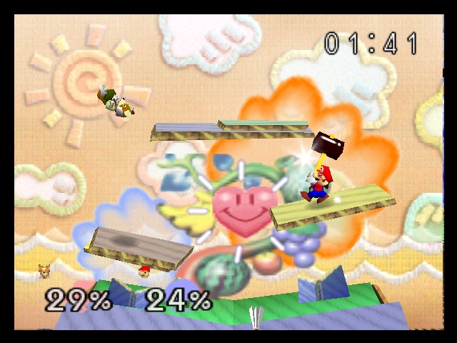 Super Smash Bros. - Battle  - Taken from a Netplay session. - User Screenshot
