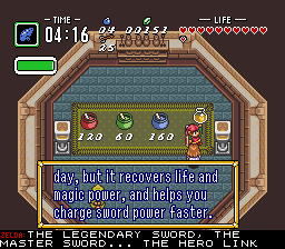 BS Zelda - Ancient Stone Tablets (week 4) - Location Potion Shop - I hope this isn