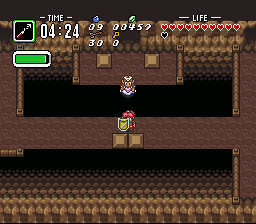 BS Zelda - Ancient Stone Tablets (week 4) - Level 8 - Will Zelda plummet to her doom? ... Naahh. - User Screenshot
