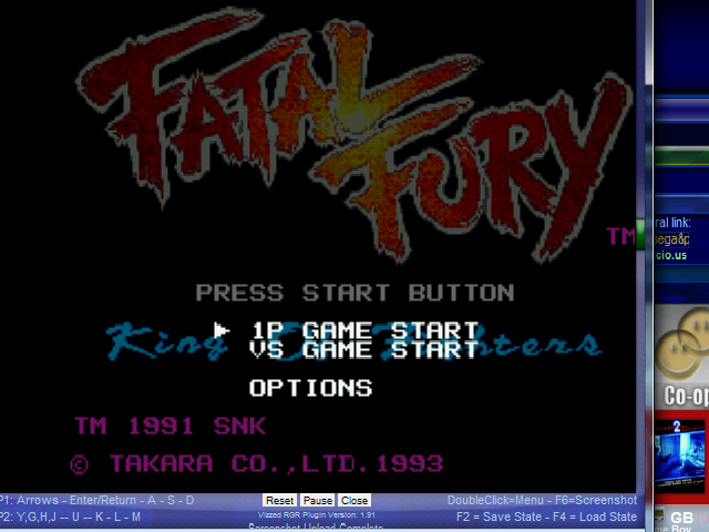 Fatal Fury - Mode Select  - 1P Game Start Mode - User Screenshot