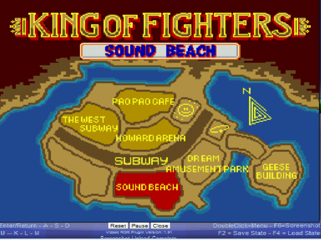 Fatal Fury - World Map Sound Beach - Map of Fighting Locations - User Screenshot