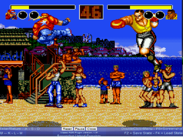 Fatal Fury - Level Sound Beach - Flying jump kick - User Screenshot