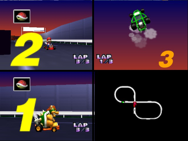 Mario Kart 64 - Misc Winner - Me beating David in Mario Kart 64 - User Screenshot