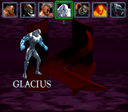 Killer Instinct - Character Select  - Glacius - User Screenshot