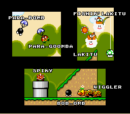 Super Mario World - Ending  - the cast 9 - User Screenshot