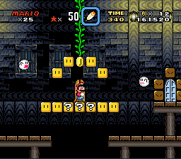 Super Mario World - Level Ghost Town - Big Boo Boss Pathway. - User Screenshot