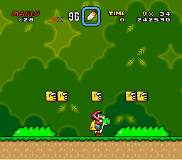 Super Mario World - Level Above first Ghost Town - Top Secret Area - User Screenshot