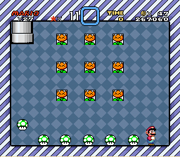 Super Mario World - Mini-Game  - 8 free lives. - User Screenshot