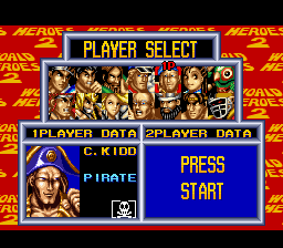 World Heroes 2 - Character Select  - C. Kidd - User Screenshot