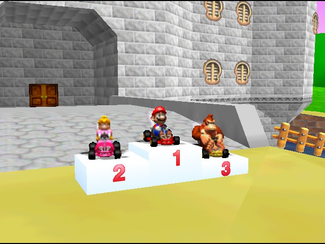 Mario Kart 64 - I beat mushroom cup :P - User Screenshot