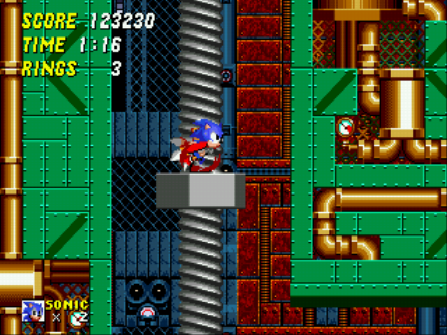 Sonic the Hedgehog 2 - Level Metropolis Zone - Sonic and Tails: Screwin