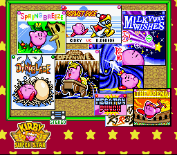 Kirby Super Star - Game Select  - The Full Selection! - User Screenshot