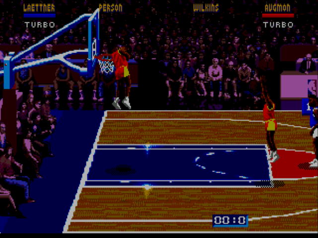 NBA Jam - Cut-Scene  - Oh, Come on. In Mid-Dunk?! - User Screenshot