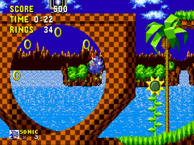 Sonic the Hedgehog - Level Green Hill Zone - Green Hill Zone - User Screenshot