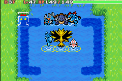 Pokemon Mystery Dungeon - Red Rescue Team - Battle  - me goldeen kingdra vs. hydro - User Screenshot