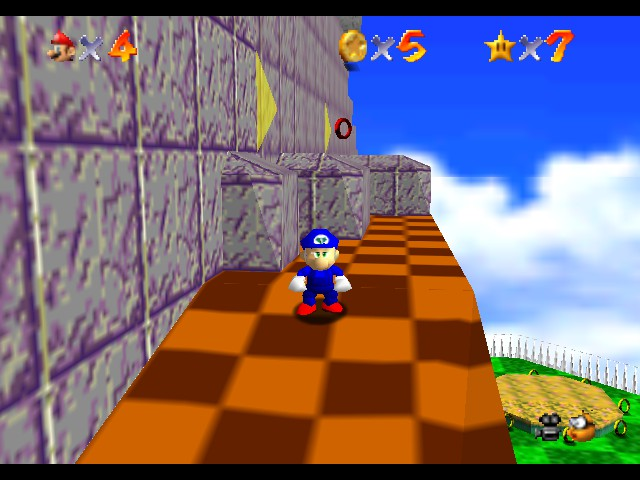 Super Sonic 64 - Marble Hill Zone - User Screenshot