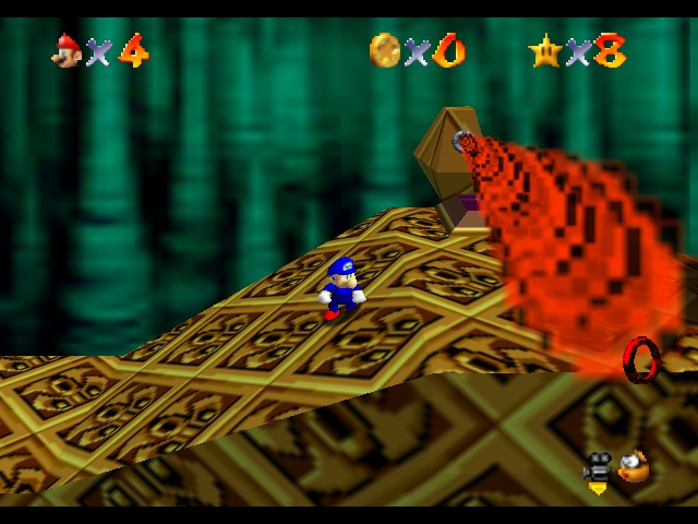 Super Sonic 64 - Labyrinth Zone - User Screenshot