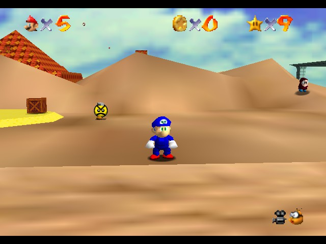 Super Sonic 64 -  Sandoplis Zone - User Screenshot