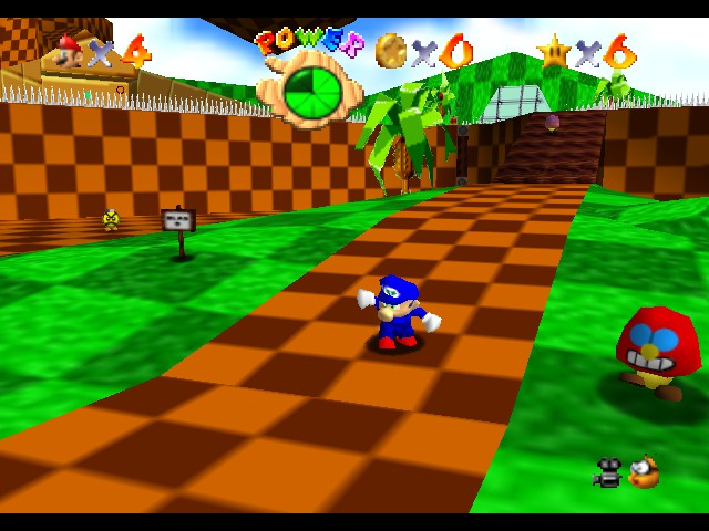 Super Sonic 64 - Green Hill Zone - User Screenshot