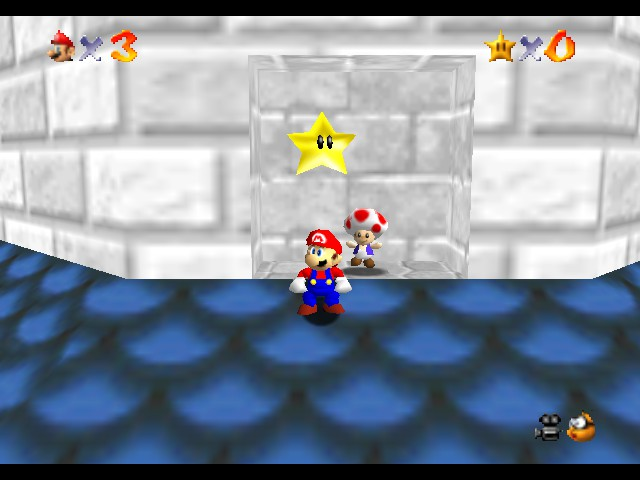 Super Mario 64 - Star Road - seceret star - User Screenshot