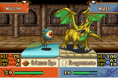 Fire Emblem - The Sacred Stones - Battle  - Myrrh: Eeeeek! an eyeball! - User Screenshot