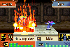 Fire Emblem - The Sacred Stones - Battle  - Setting the spider on fire lawl - User Screenshot