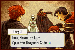 Fire Emblem - Cut-Scene  - Eliwood: Snap outta it Ninian!  - User Screenshot
