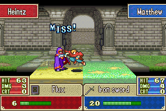 Fire Emblem - Battle  - Hah..missed me.. - User Screenshot