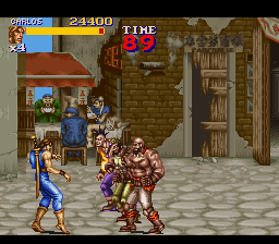 Final Fight 2 - Level 1 - chun-li in the background ;) - User Screenshot