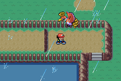 Pokemon Ash Gray (beta 3.61) - Cut-Scene  - It flew right over the rainbow XD - User Screenshot
