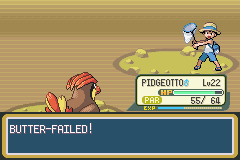 Pokemon Ash Gray (beta 3.61) - HAHAHAHAHA BUTTER-FAILED XD - User Screenshot