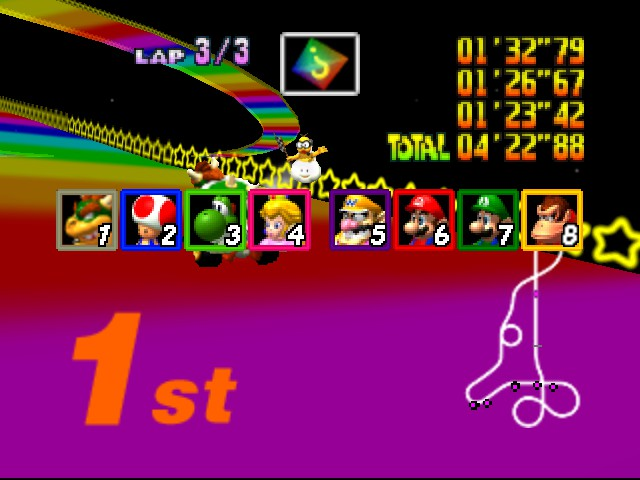 Mario Kart 64 - i took the shortcut lol  - User Screenshot