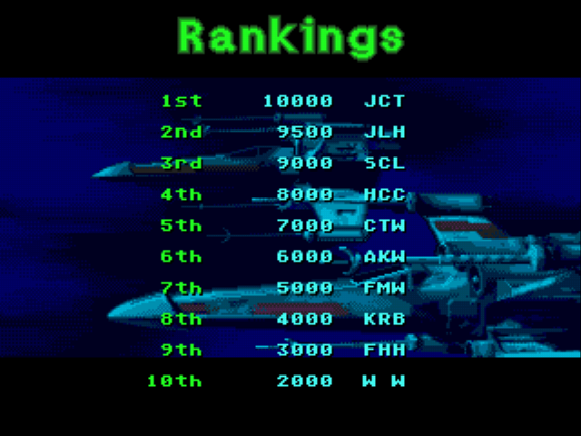 Star Wars Arcade - Second place bahh - User Screenshot