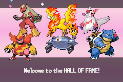 Pokemon Burning Ruby - hall of fame  - User Screenshot