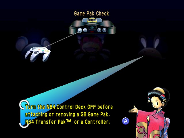Pokemon Stadium 2 - Introduction  - ooh hot chick Oh yeah, a controller - User Screenshot