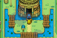 Pokemon Mystery Dungeon - Red Rescue Team - Cut-Scene  - DUDE WHAT ARE YOU DOING HERE? - User Screenshot