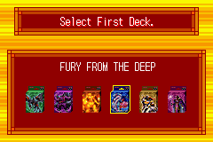 Yu-Gi-Oh! - Ultimate Masters - World Championship Tourna - Select First Deck.        - User Screenshot