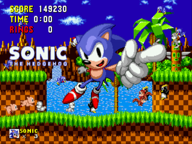 Sonic the Hedgehog - Finished The Game!!!!!! - User Screenshot