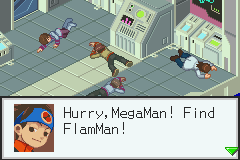Megaman Battle Network 3 Blue - flam? - User Screenshot